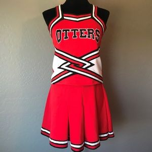 Red, White & Black Otters Cheer Uniform, Adult M/L